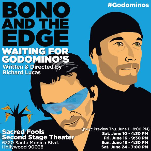 Richard Lucas' award-winning play Bono and The Edge Waiting for Godomino's