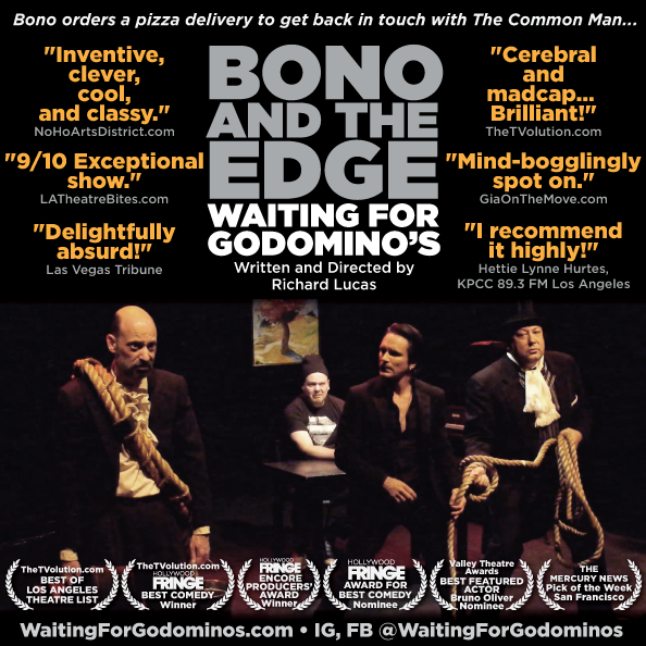Bono and The Edge Waiting for Godomino's - written and directed by Richard Lucas